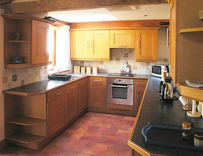 Fully fitted kitchen in self-catering accommodation
